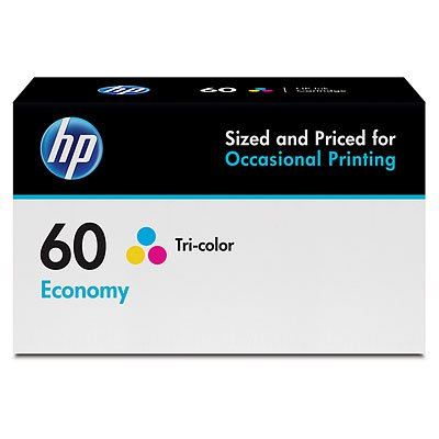 HP 60 Tri-Color Economy Original Ink Cartridge (B3B06AN) Ink