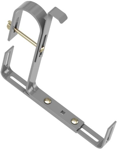 Emsa 508707 Blumenkastenhalter für Rundgeländer, Universell passend, Tragkraft 25 kg, Aluminium, Special