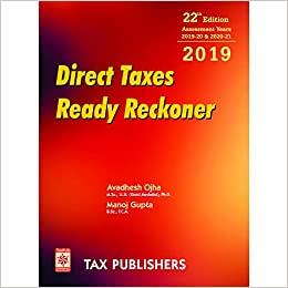 Paperback: 1416 pages Publisher: TAX PUBLISHERS; YEAR 2019 EDITION edition (16 August 2019)