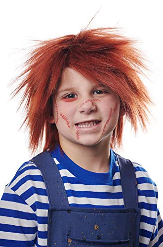 Red Chucky Wig (Franco Evil Doll Childs Chucky Costume Red Wig Child One)