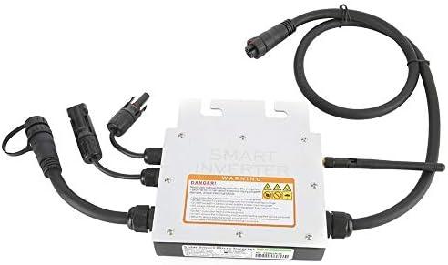 MPPT Micro Solar Inverter, 300W DC 18-50V Eingang IP65 Wasserdichter Einphasiger Micro Grid Tie Inverter LED-Anzeige Smart Solar Power Inverter Stromversorgung mit Empfänger für Solarpanelsystem(230V)