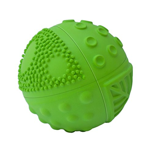 100% Pure Natural Rubber Sensory Ball Meadow (3'') - BPA, Phthalates, PVC Free, Certified Non-Toxic by CaaOcho