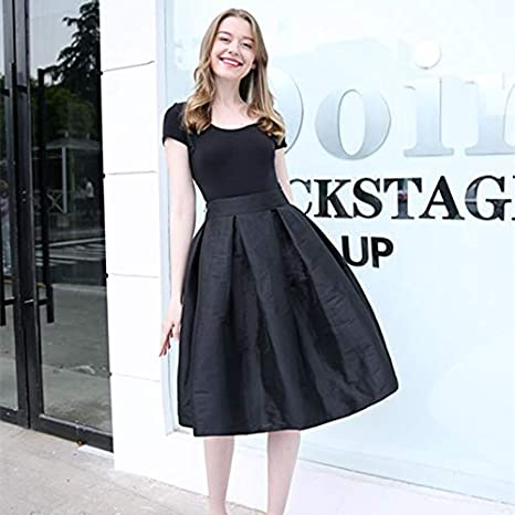 NVDKHXG Moda Faldas largas Mujer Faldas Cintura Alta Mujer Plisada ...