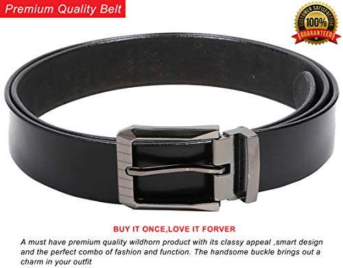WildHorn® RFID Protected Genuine High Quality Leather Wallet,Belt,Keychain & Card Holder Combo for Men