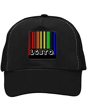 Unisex LGBT Rainbow Bar Code Adjustable Classic Hiphop Hat Baseball Cap Snapback Dad Hat