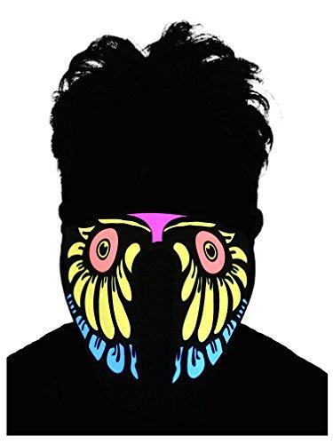 Music Festival Costumes (Flashing El Panel LED Party Costume Mask (Owl))