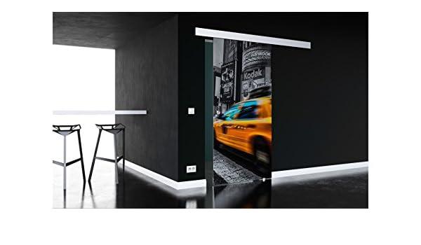 baumarkt direkt – Puerta corredera de cristal New York, con conchas, mango en 3 Anchos 77 cm: Amazon.es: Bricolaje y herramientas
