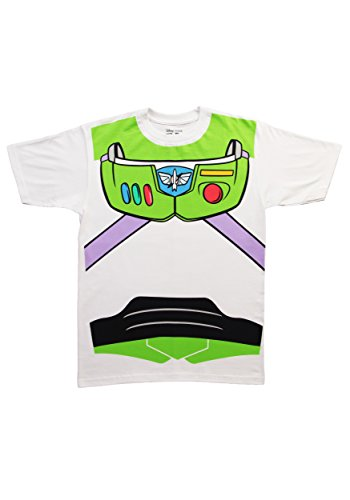 Toy Story Buzz Lightyear Astronaut Costume White Adult T-shirt Tee 3X]()
