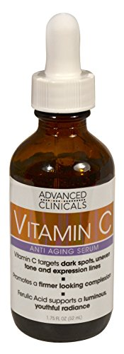 Advanced Clinicals Vitamin C Anti-aging Serum for Dark Spots, Uneven Skin Tone, Crows Feet and Expression Lines. 1.75 Fl (Advanced Vitamin)