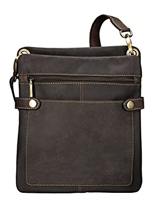 Visconti Distressed Leather Fashion Slim Cross-Body Messenger Bag