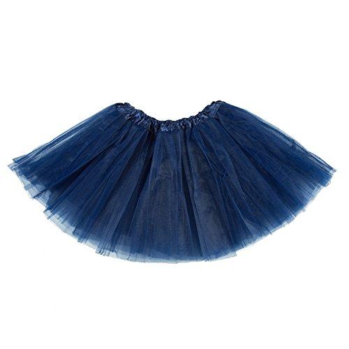 belababy Girl Skirts 3 Layers Organza Baby Tutu, 3-12, Navy -