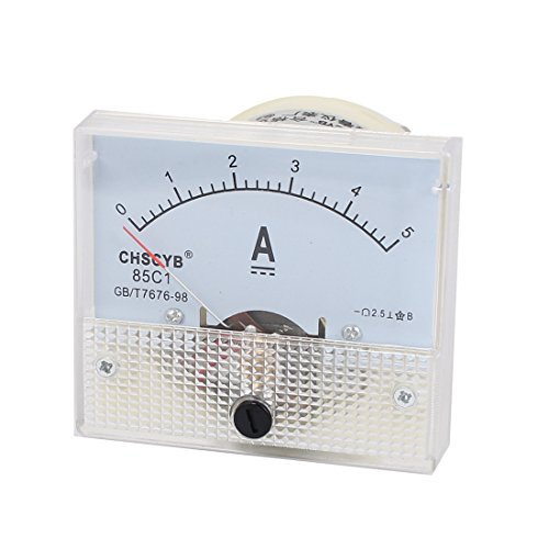 uxcell 85C1-A Analog Current Panel Meter DC 5A Ammeter Ampere Gauge Tester