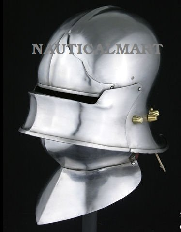 European Sallet with Visor, Browplate, Bevor By Nauticalmart by NAUTICALMART