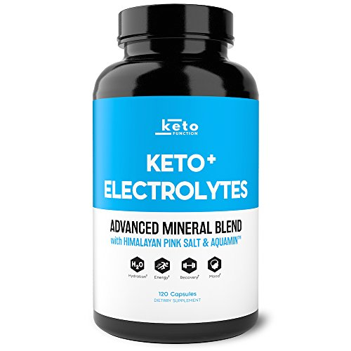 Keto Electrolyte Supplement - Electrolytes and Trace Minerals for Low-Carb Keto Diet - Leg Cramp Relief, Hydration, Energy, Ketosis - Sodium, Potassium, Magnesium, Calcium - Keto Friendly Pills