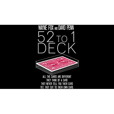 The 52 to 1 Deck Gimmicks and Online Instructions by Wayne Fox and David Penn Trick: Toys & Games