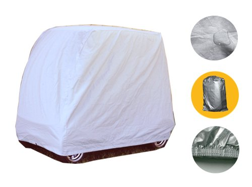 (Brightent 2-4 Passengers Golf Cart Cover For Yamaha EZ-GO Club Car Storage Two Sizes (4 Passenger 110