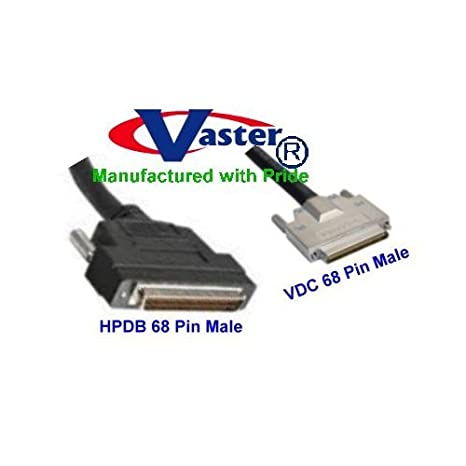 0.8mm Male to SCSI-3 SuperEcable 68-Pin Male Cable SCSI-5 HPDB68 VHDCI 20367-3 Ft