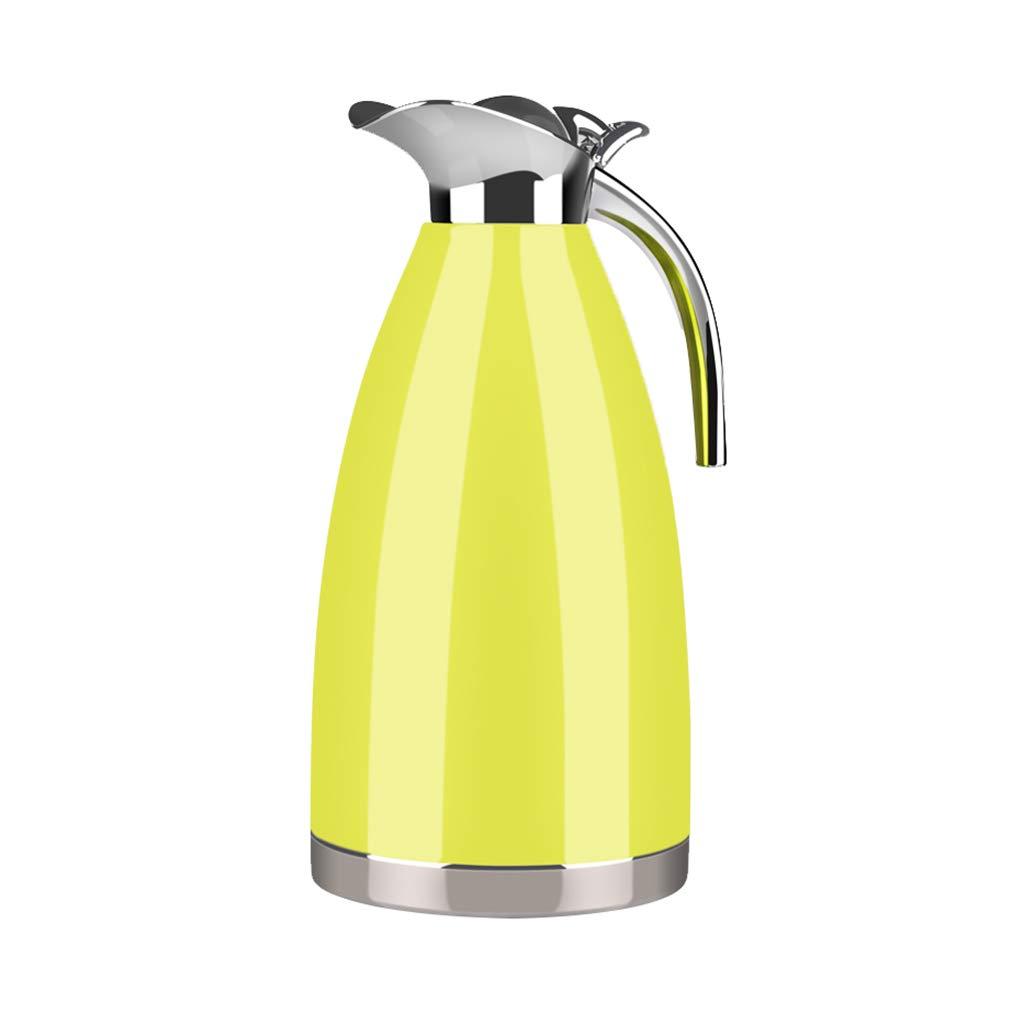 FYCZ 2L Thermoskannen, Doppelwandig Isoliert Und Leichte Kaffeetasse Isolationstopf Edelstahl Und Auslaufsicher Für Heißes Und Kaltes Getränk
