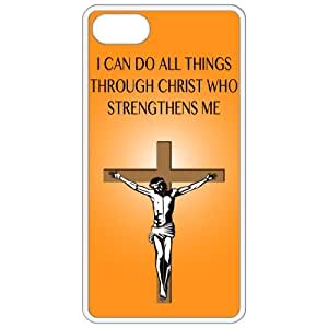 I Can Do All Things Through Christ Who Strengthens Me - Religious - Religion White Iphone 5 Cell Phone Case - Cover 41