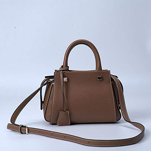 Lady's Big Leather Bag capacity Cowhide Layer Shoulder Female A Baotou Hongge Fashion Single zx88wv