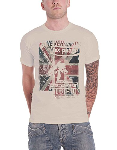 The Sex Pistols T Shirt Filthy Lucre 100 Club Concert Flyer Official ()