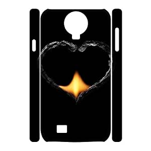 wugdiy New Fashion Cover 3D Case for SamSung Galaxy S4 I9500 with custom Fire Heart