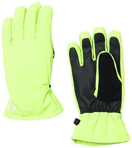 Spyder Girls Astrid Gloves, Medium, Green Flash (Spyder Flash)