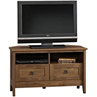 Corner Tv Stand Oak Entertainment Center Furniture Media Console Table Cabinet Wood