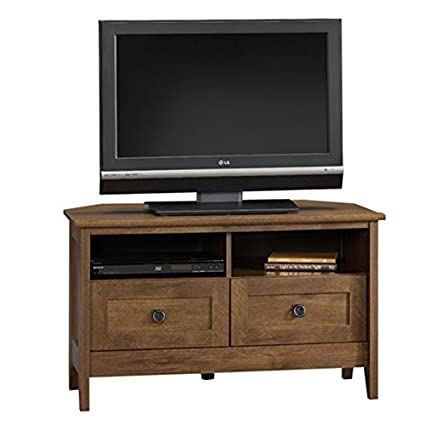 competitive price 9961b 90d59 Corner Tv Stand Oak Entertainment Center Furniture Media Console Table  Cabinet Wood
