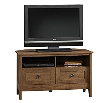 Corner Tv Stand Oak Entertainment Center Furniture Media Console Table Cabinet  Wood