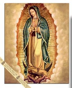 Amazon Com Our Lady Of Guadalupe Print Virgen De Guadalupe Poster