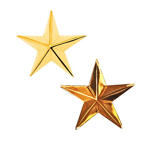 Footwear Heavy Duty (25 Pieces X 40Mm Star-Shaped Studs With Spikes - Gold Hand Pressed 10Mm Nail Head Rivets - Suitable For Leather Crafting, Decorating Clothes, Jackets, Belts, Footwear, And Bags)