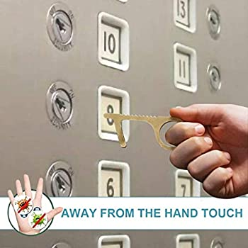Contactless Safety Door Opener Safe Protection NO Touch Brass Key Opener Kits
