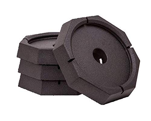 SnapPad Xtra Permanently Attached RV Leveling Jack Pad for 9 inch Round Landing Feet (4-Pack) (Trailer Jack Snap Ring)