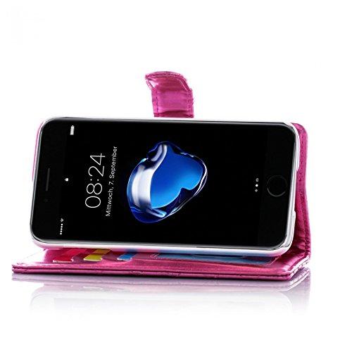 Book Style Design Handy Tasche Karo Metallic mit Visitenkartenfunktion und Strass Herzen Flip Cover Schutz Hülle Schale Klapp Etui Case Modern Bag für Apple iPhone 4 4G 4S in Pink
