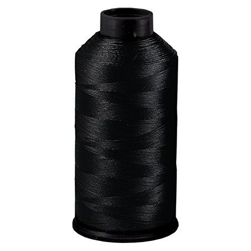 Dollylocks Bonded Nylon Hair Weaving Thread (Black) by Dollylocks