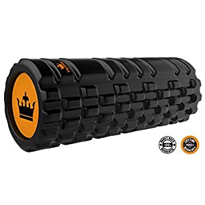 KING ATHLETIC Foam Roller for Muscles Exercise and Myofascial Massage :: Spots Therapy :: New Grid Textured Fitness Rollers Best for Stretching, Tension Release, Pilates & Yoga