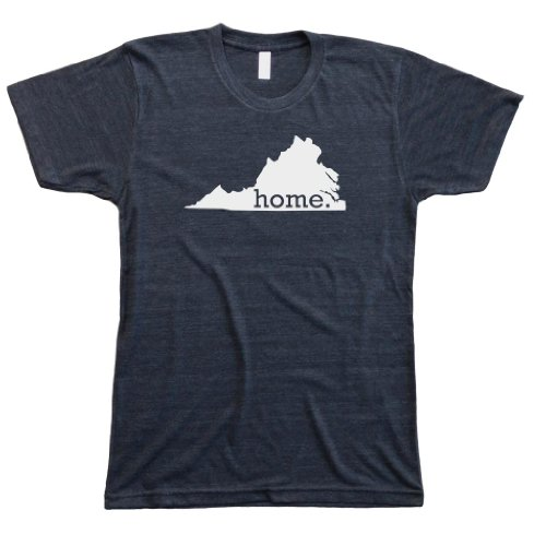 (Homeland Tees Men's Virginia Home State T-Shirt X-Large Charcoal/White)