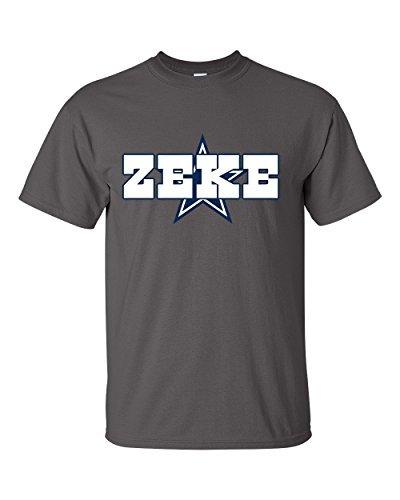 "Charcoal Zeke Dallas ""ZEKE LOGO"" T-Shirt ADULT SMALL"