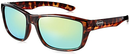 Suncloud Mayor Polarized Sunglass with Polycarbonate Lens, Tortoise Frame/Green ()