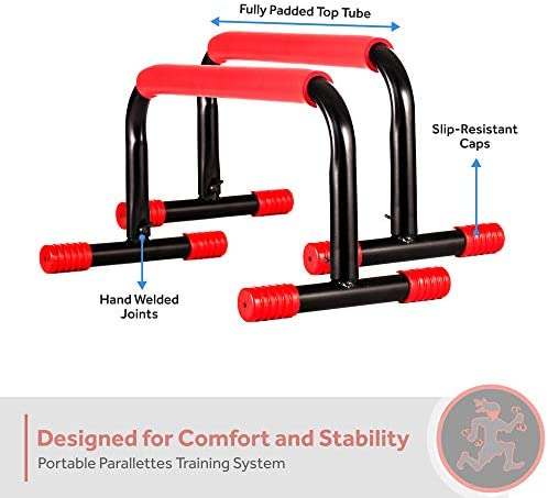 Rubberbanditz Parallettes Push Up Dip Bars Lightweight