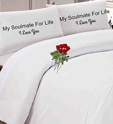 My Soulmate For life I Love You Couples Pillowcase, Wedding Gift,Engagement gift, Great Gift Idea For Boyfriend & Girlfriends.I Love You Pillow Case,Great Father's Day Gift