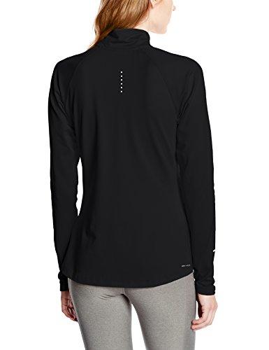Nike Element Half Zip - Camiseta para mujer Negro / Plateado (Black / Reflective Silv)