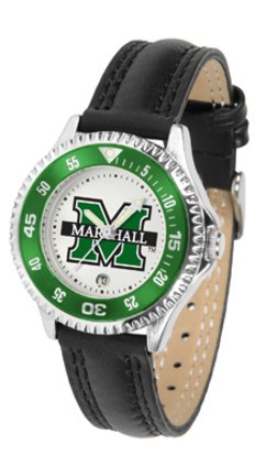 (SunTime Marshall Thundering Herd Competitor Ladies Watch with Leather Band)