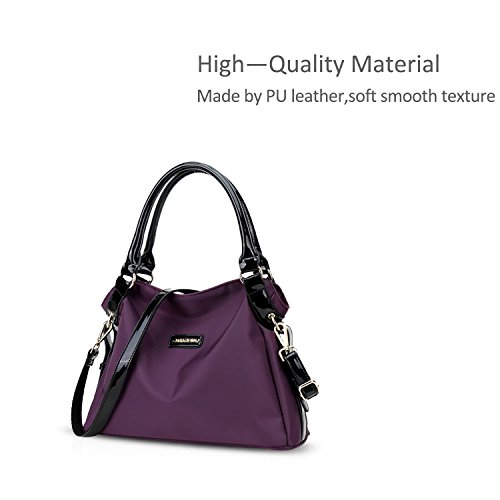 Shoulder Nylon Capacity Waterproof Nicole Bag Women Purple Large Leisure amp;Doris Purple EnEx7qH8Pa