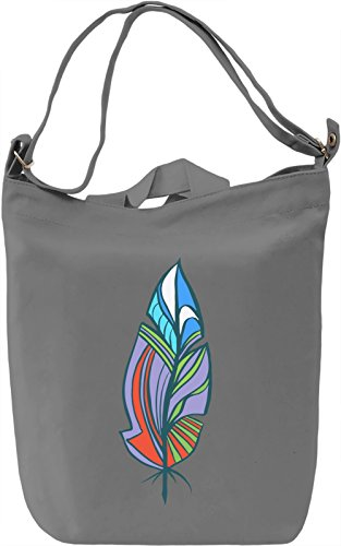 Decorative feather Borsa Giornaliera Canvas Canvas Day Bag| 100% Premium Cotton Canvas| DTG Printing|
