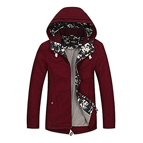 Giacca Giacca Manica con Tasche Cappotto Rot Rot Rot Foderata Betrothales Laterali Jacket Giacca Cerniera Lunga Giacca Giubbotto Cappotto Cappuccio con Parka Capispalla Giacca Uomo qTttvFz