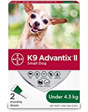 K9 Advantix II Flea and Tick Protection for Small Dogs weighing less than 4.5 kg (less than 10 lbs.)