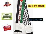 Palestine Flag Scarf Jerusalem 50-200 KEFFIYEH Arab Shemagh Scarf,Arafat فلسطين AL-AQSA Gaza الاقصى Ramadan Quran Wedding Gift Wholesale Muslim Islamic GITS 123 ☪☪ Fast Delivery-USA Seller ☪☪ (200)