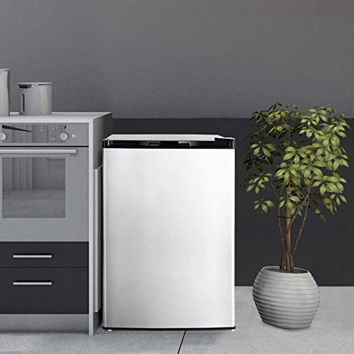 COSTWAY Compact Single Door Upright Freezer - Mini Size with Stainless Steel Door - 3.0 CU FT Capacity - Adjustable by COSTWAY (Image #1)